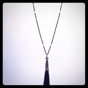 Nakamol gray colored Tassel Necklace. NWT